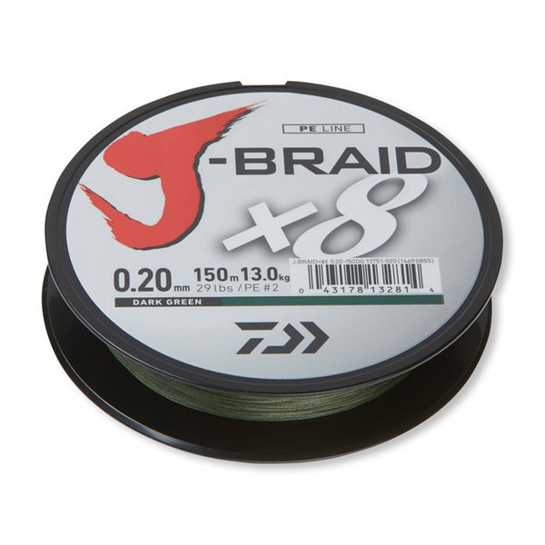 Шнур Daiwa J-BRAID X8 Dark Green 0.06/150 (арт.151502941)