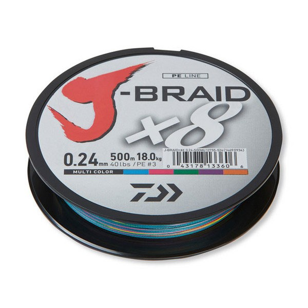 Daiwa J-BRAID X8 Multi Color 0.43/500