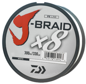 Шнур Daiwa J-Braid X8 300m White 0.55mm 120lb/54.4kg (арт.21352451)