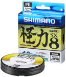 Шнур Shimano Kairiki SX8 PE (Steel Grey) 150m 0.25mm 21.0kg (арт.22669094)