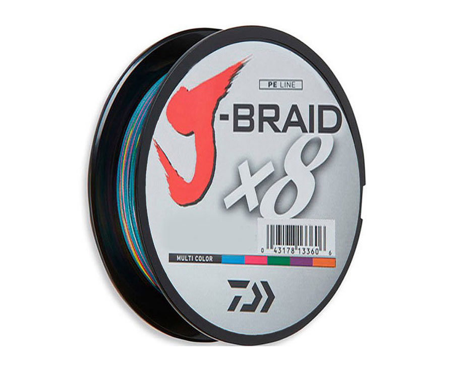 Шнур Daiwa J-Braid x8 Multicolor 150м 0.22мм (арт.3838014593)