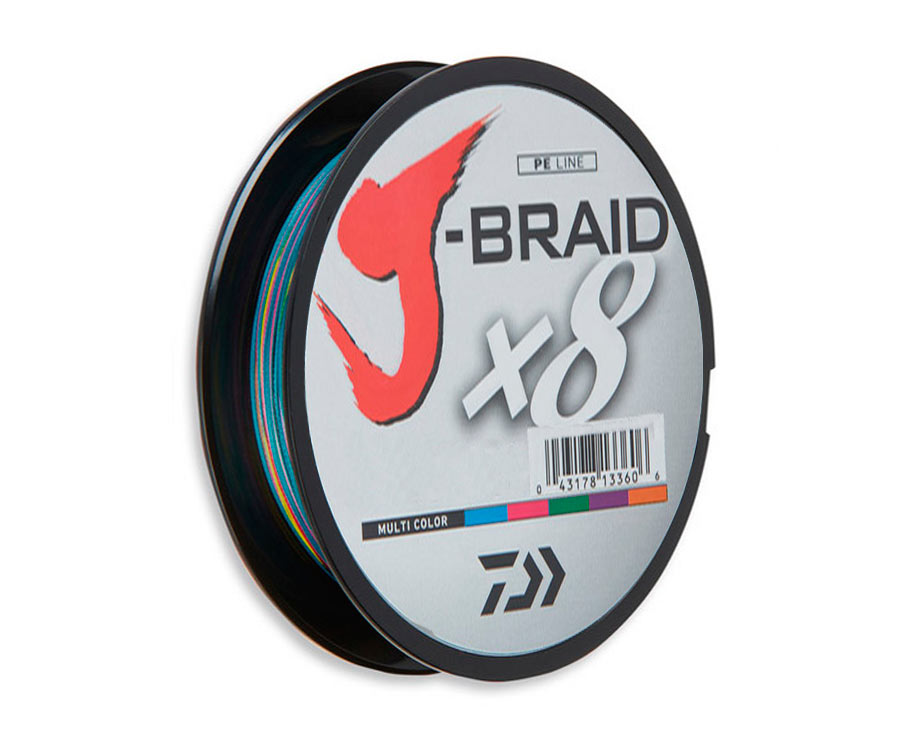 Шнур Daiwa J-Braid x8 Multicolor 300м 0.20мм (арт.3838014700)