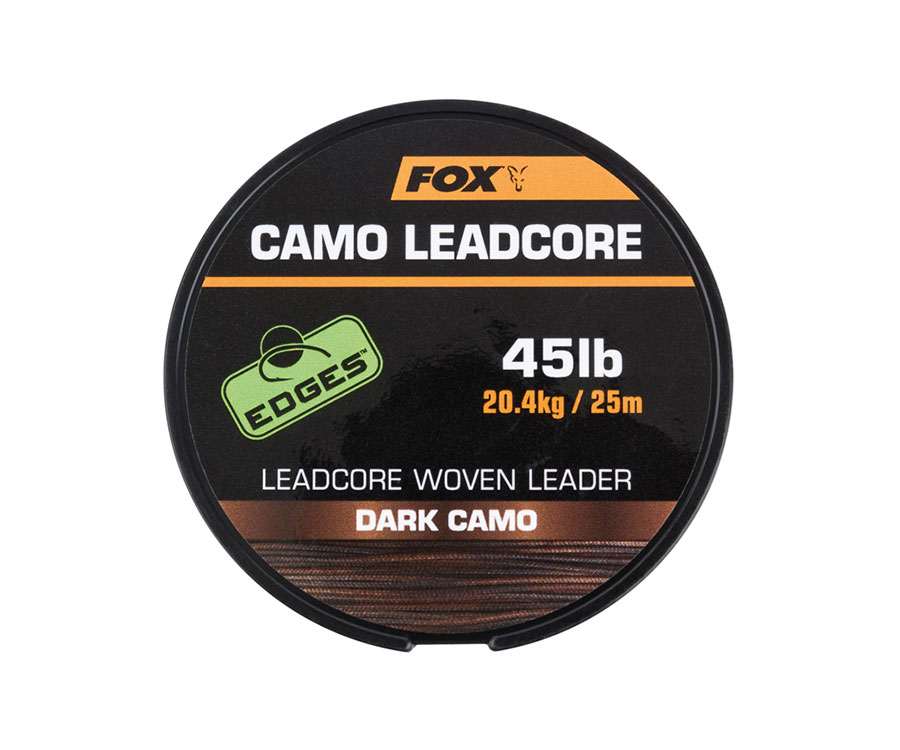 Плетеный лидер FOX Edges Leadcore Dark Camo 45lb 25m (арт.3838CAC462)