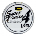 Шнур Duel Super X-Wire 4 150m 0.17mm 8.0kg Silver #1.0 (арт.19191111560)